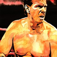 "John Bradshaw Layfield - Ink and watercolor on 9"" x 12"" watercolor paper"