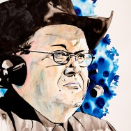 "Jim Ross - Ink and watercolor on 22"" x 30"" watercolor paper"