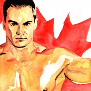 "Lance Storm - Ink and watercolor on 9"" x 12"" watercolor paper"