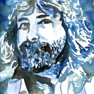 "Mick Foley - Ink and watercolor on 9"" x 12"" watercolor paper"
