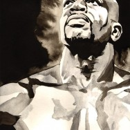 "Titus O'Neil - Ink and watercolor on 12"" x 18"" watercolor paper"