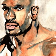 "Titus O'Neil - Ink and watercolor on 9"" x 12"" watercolor paper"