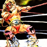 "Ultimate Warrior - Ink and watercolor on 9"" x 12"" watercolor paper"