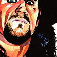 "Undertaker - Ink and watercolor on 9"" x 12"" watercolor paper"
