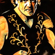 "William Regal - Ink and watercolor on 9"" x 12"" watercolor paper"