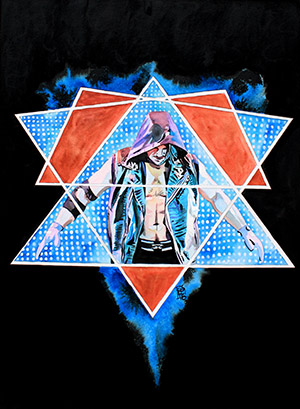 Purchase AJ Styles Painting by Rob Schamberger