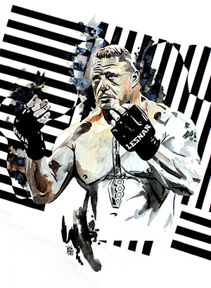 Purchase Brock Lesnar Painting by Rob Schamberger