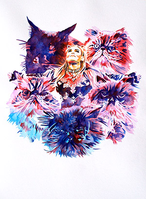 Purchase Cats Rule Limited Edition print by Rob Schamberger