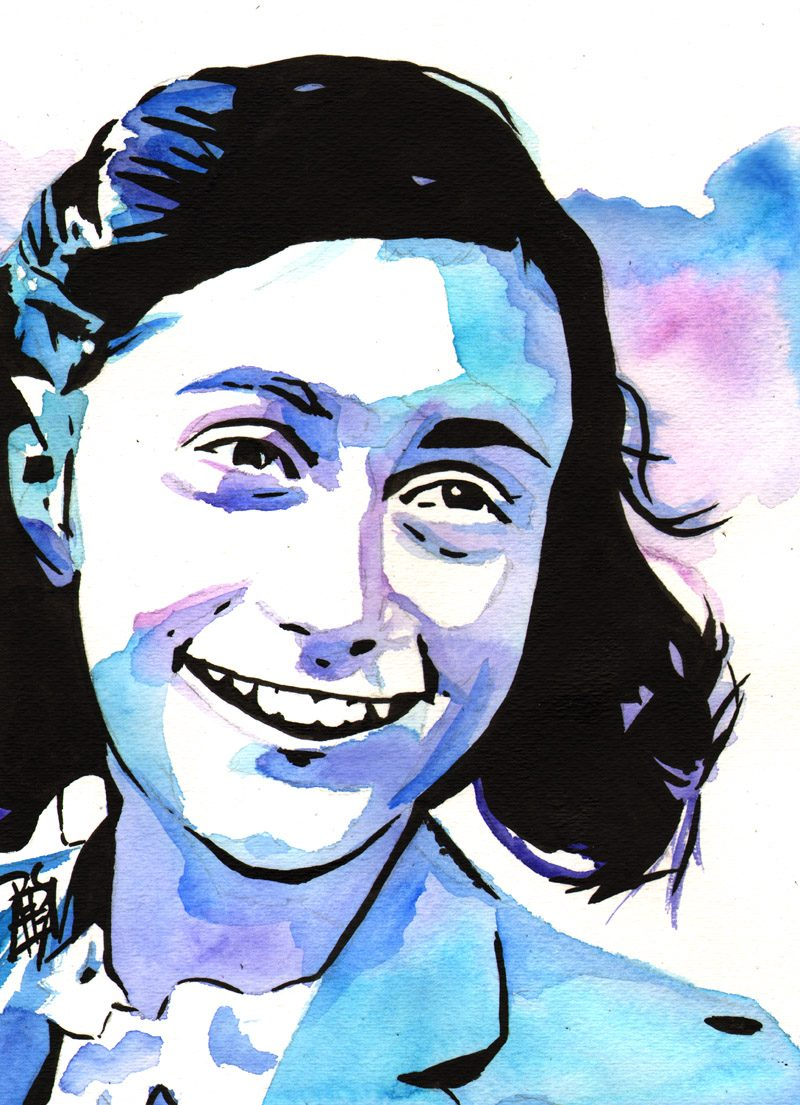 Anne Frank painted by Rob Schamberger