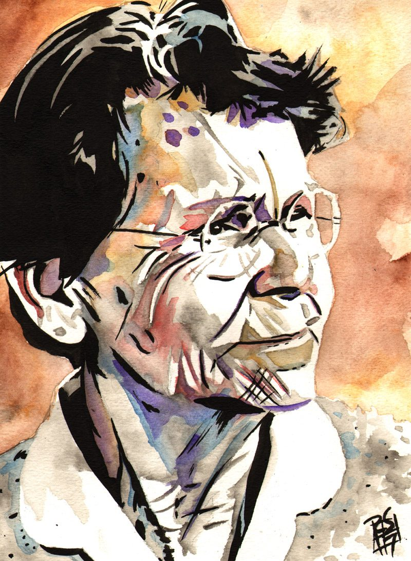 Barbara McClintock painting by Rob Schamberger