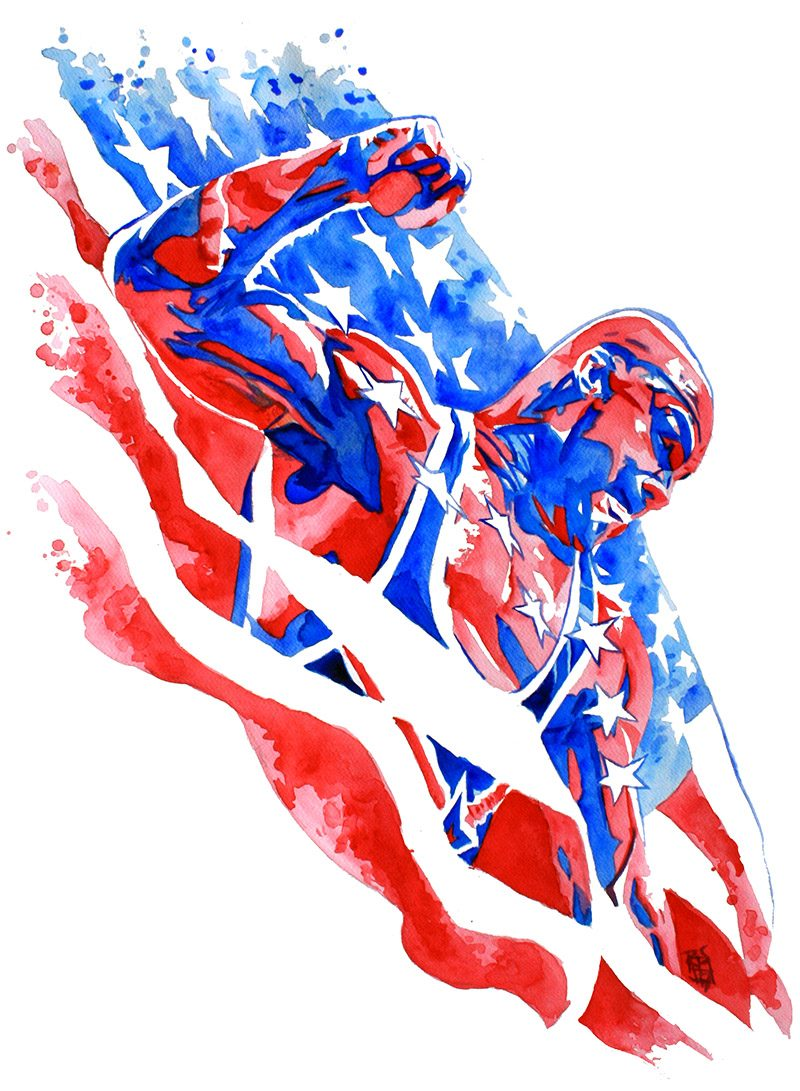 Kurt Angle painted by Rob Schamberger