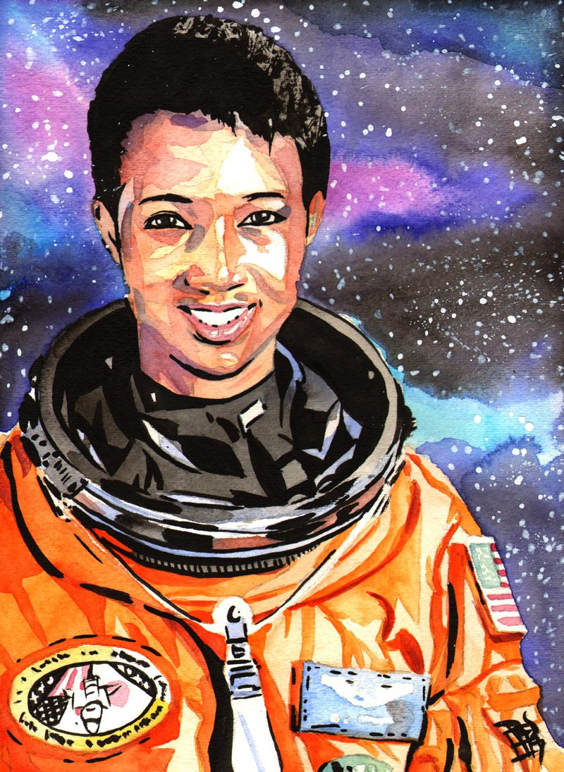 Mae Jemison painting by Rob Schamberger