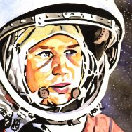 Valentina Tereshkova painted by Rob Schamberger