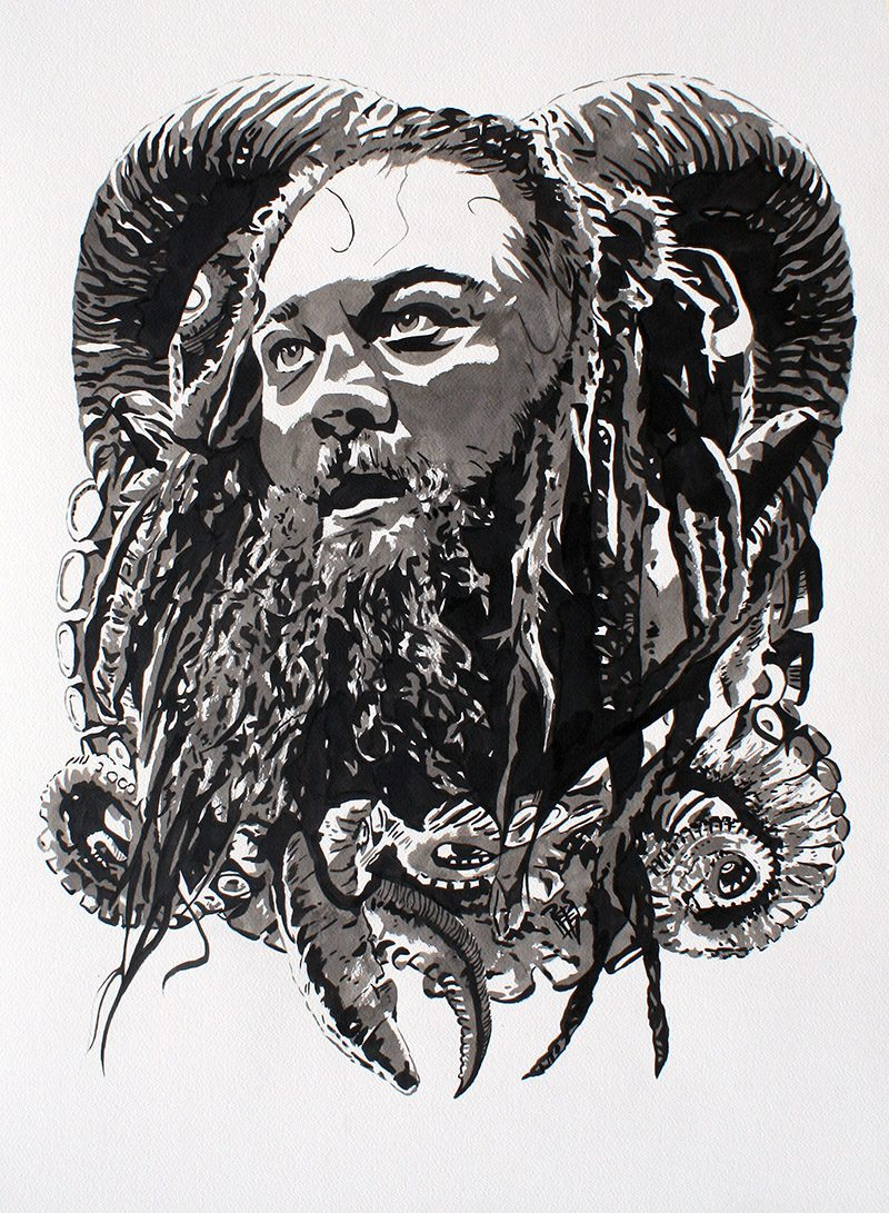 Bray Wyatt painted by Rob Schamberger