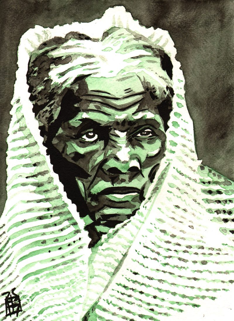 Harriet Tubman painted by Rob Schamberger
