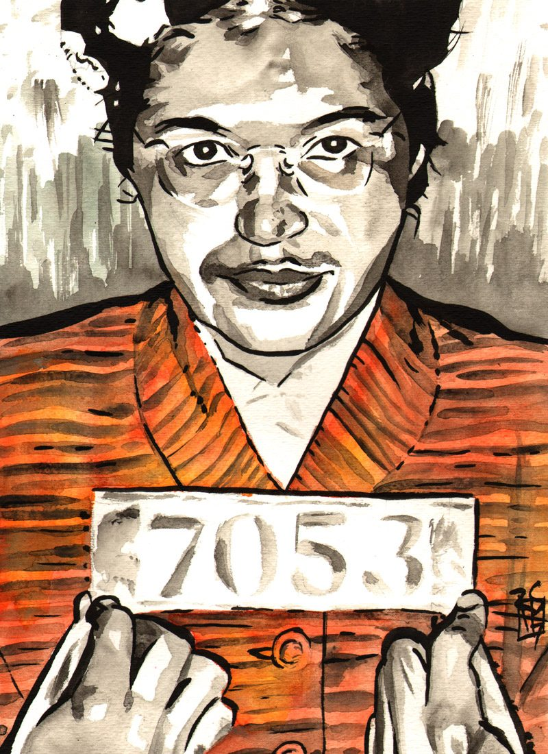 Rosa Parks painted by Rob Schamberger
