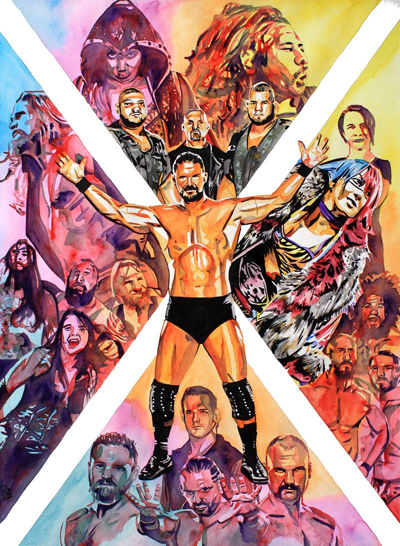 NXT TakeOver painting by Rob Schamberger