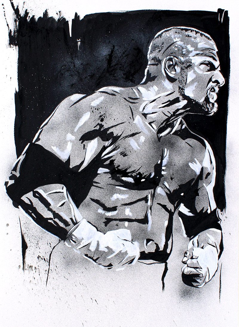 Triple H painting by Rob Schamberger