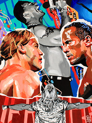 Purchase The Great One and the GOAT Limited Edition print by Rob Schamberger