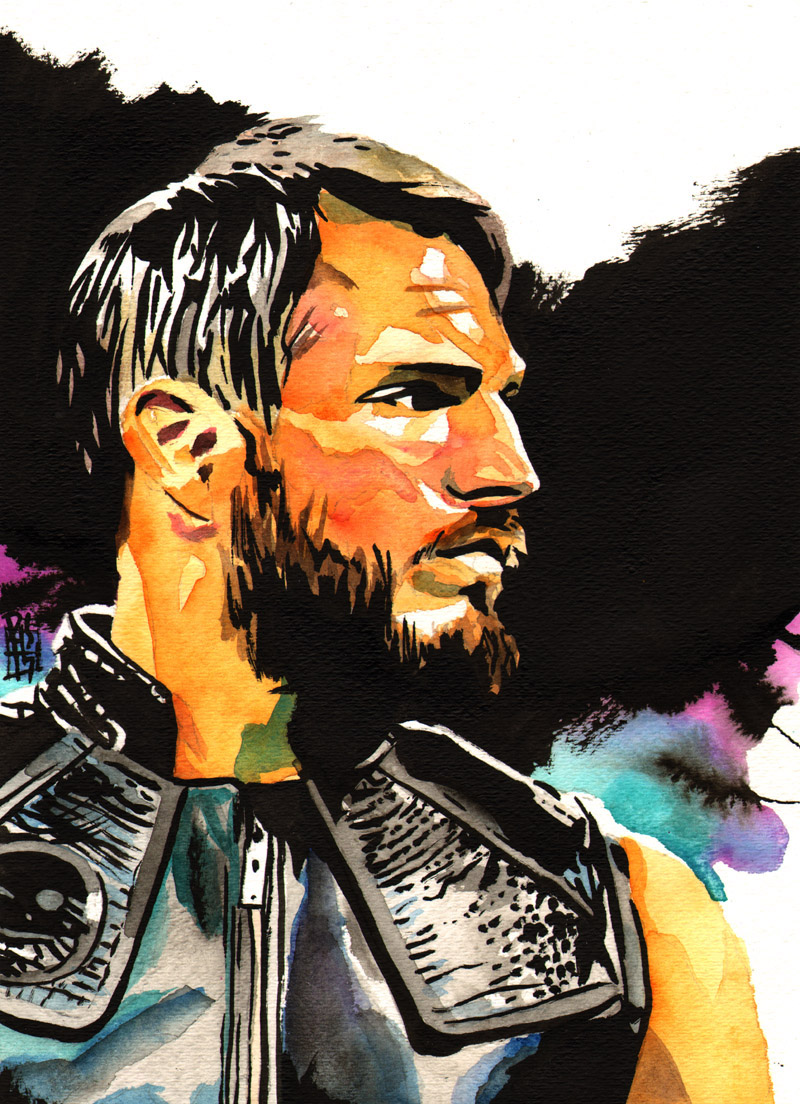 Purchase Johnny Gargano painting by Rob Schamberger