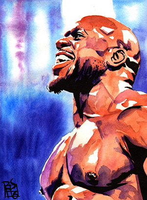 Purchase Apollo Crews painting by Rob Schamberger