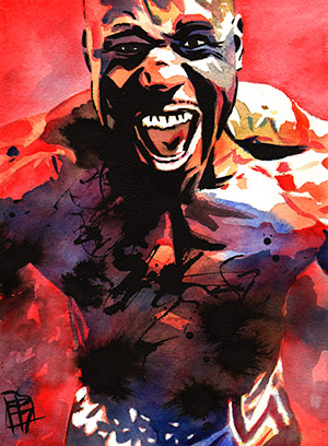 Purchase Apollo Crews red painting by Rob Schamberger