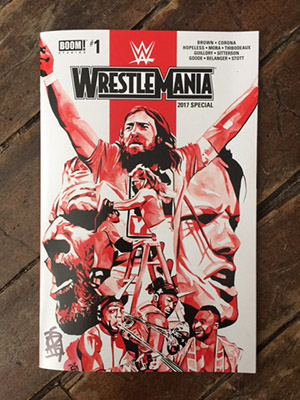 Purchase Signed WrestleMania Comic by Rob Schamberger