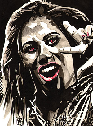 Purchase Ember Moon grey painting by Rob Schamberger