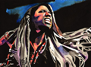 Purchase Ember Moon painting by Rob Schamberger