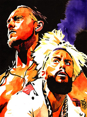 Purchase Enzo and Cass painting by Rob Schamberger
