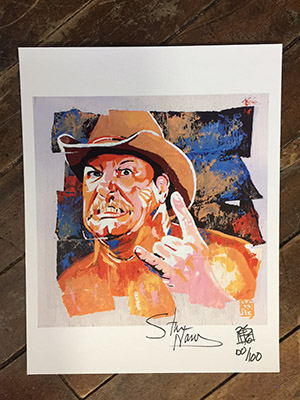 Purchase SIGNED Stan Hansen Limited Edition print by Rob Schamberger