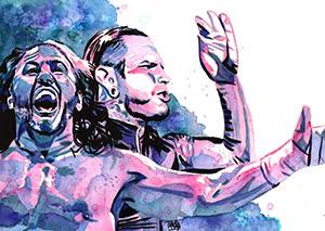 Purchase Hardy Boyz painting by Rob Schamberger