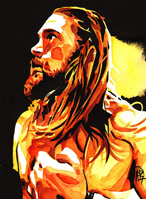 Purchase Kassius Ohno painting by Rob Schamberger