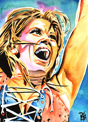 Purchase Mickie James painting by Rob Schamberger