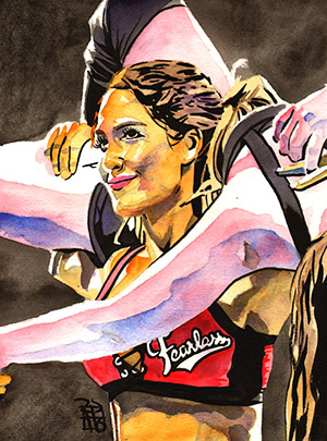Purchase Nikki Bella painting by Rob Schamberger