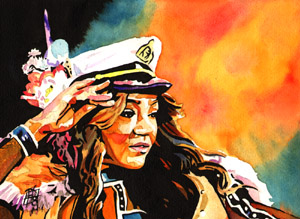Purchase Alicia Fox painting by Rob Schamberger