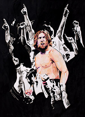 Purchase Return of Daniel Bryan painting by Rob Schamberger