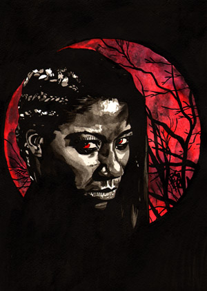 Purchase Ember Moon Red painting by Rob Schamberger