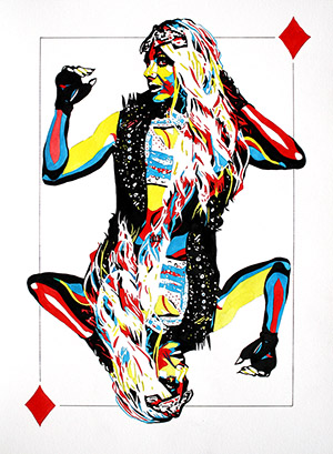 Purchase Goddess of Diamonds Limited Edition print by Rob Schamberger