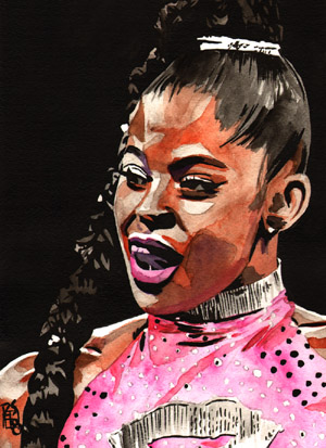 Purchase Bianca Belair painting by Rob Schamberger