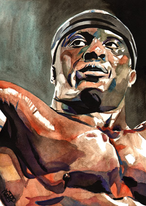 Purchase Bobby Lashley painting by Rob Schamberger