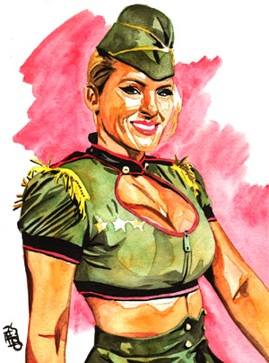 Purchase Lacey Evans painting by Rob Schamberger