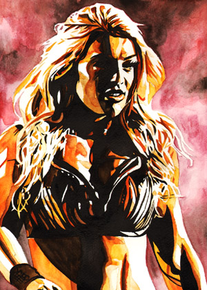 Purchase Mandy Rose painting by Rob Schamberger