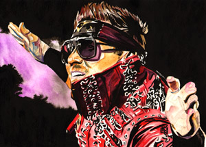 Purchase A-Lister Miz painting by Rob Schamberger
