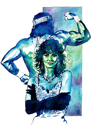 Purchase Miss Elizabeth and Randy Savage painting by Rob Schamberger