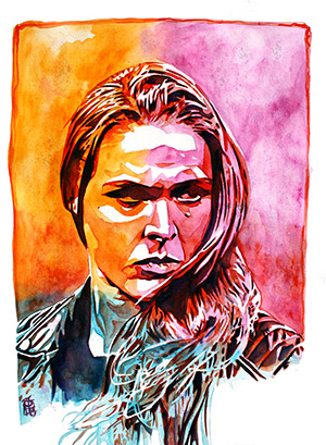 Purchase Ronda Rousey painting by Rob Schamberger
