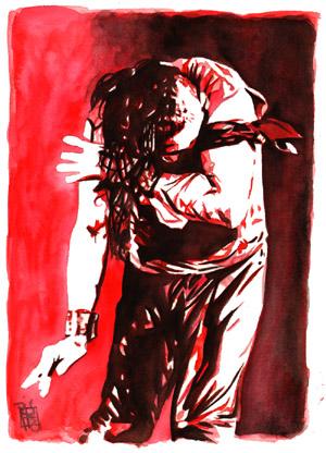 Purchase Shinsuke Nakamura Red painting by Rob Schamberger