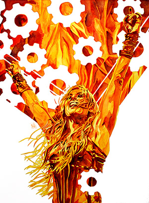 Purchase Gears of Fire Limited Edition print by Rob Schamberger