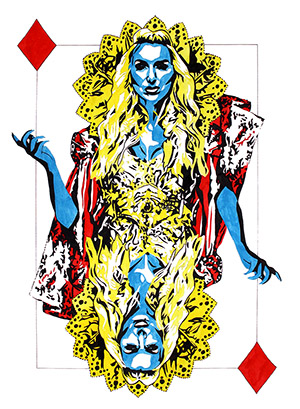Purchase Queen of Diamonds Limited Edition print by Rob Schamberger