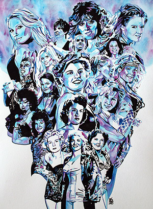 Purchase Queens of the Ring Limited Edition print by Rob Schamberger